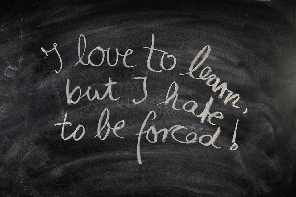 blackboard with quotes